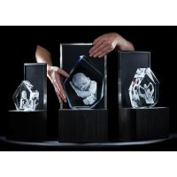 3D Glasfoto Eisberg