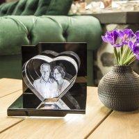 3D Glasfoto Herz