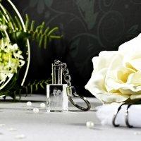 2D Glasfoto im Schlüsselanhänger