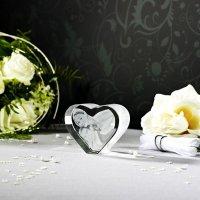 2D Glasfoto Herz M