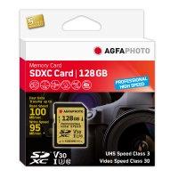 128GB SDXC-Karte Prof. Highsp. UHS-I C10/U3/V30 95MB/100MB
